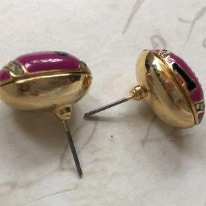 Betsey Johnson Jewelry - Betsey Johnson Purple football stud earrings